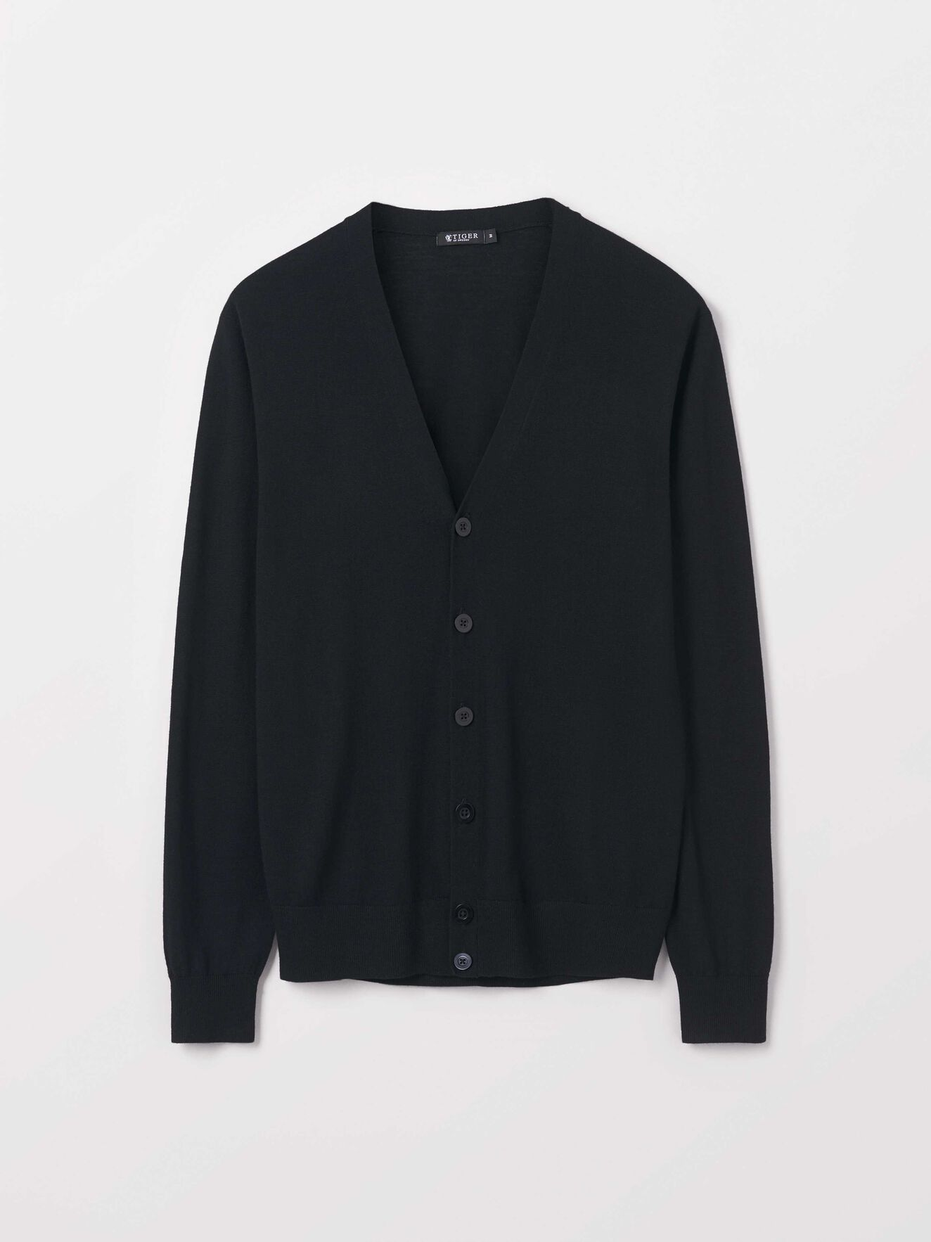 Navid Cardigan in Black from Tiger of Sweden