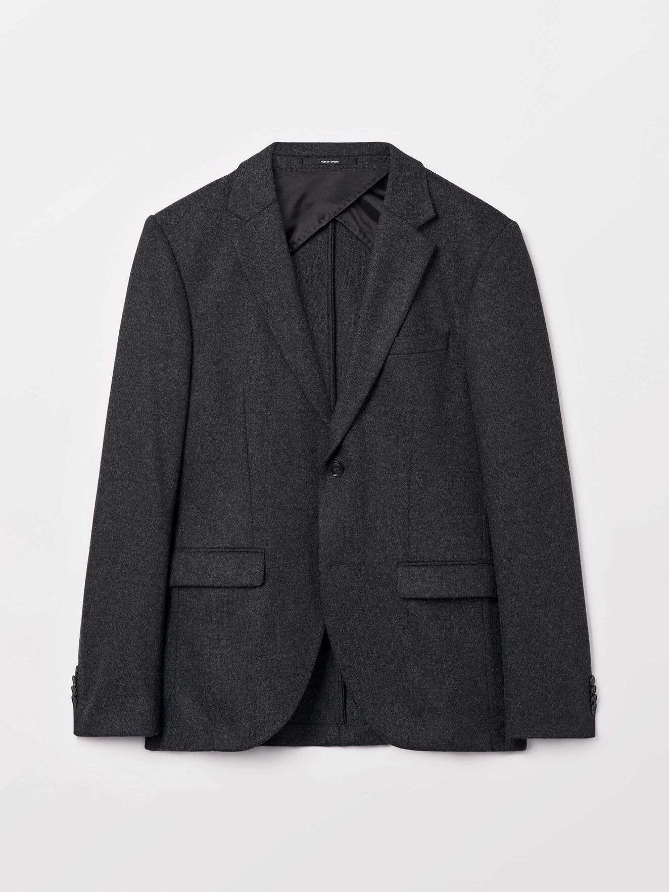 Jamonte Hl Blazer in Med Grey Mel from Tiger of Sweden
