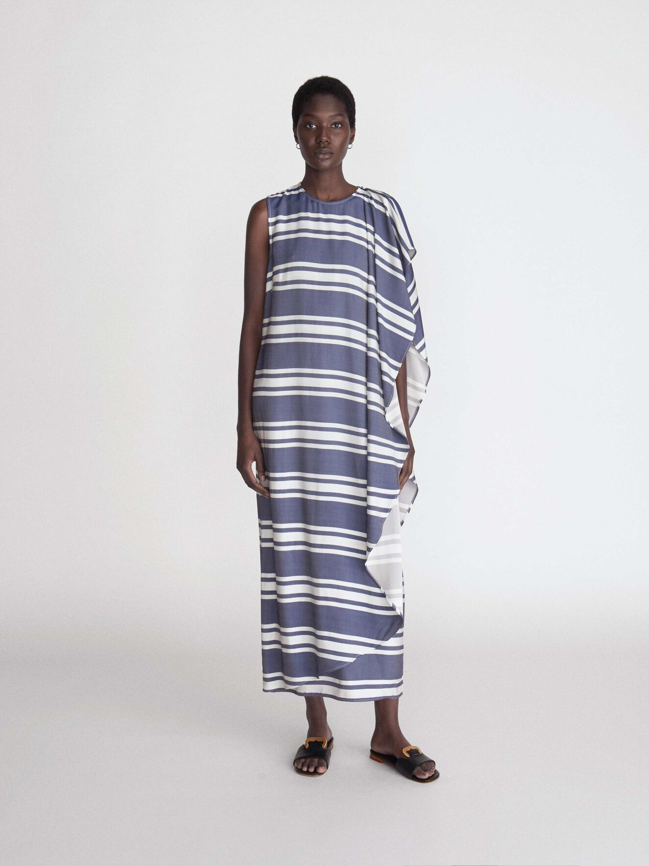 Saura S Dress in Deep Ocean Blue from Tiger of Sweden