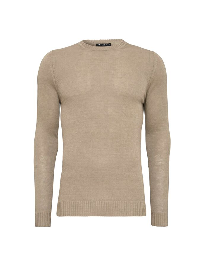 MATIAS PULLOVER in Desert Beige from Tiger of Sweden
