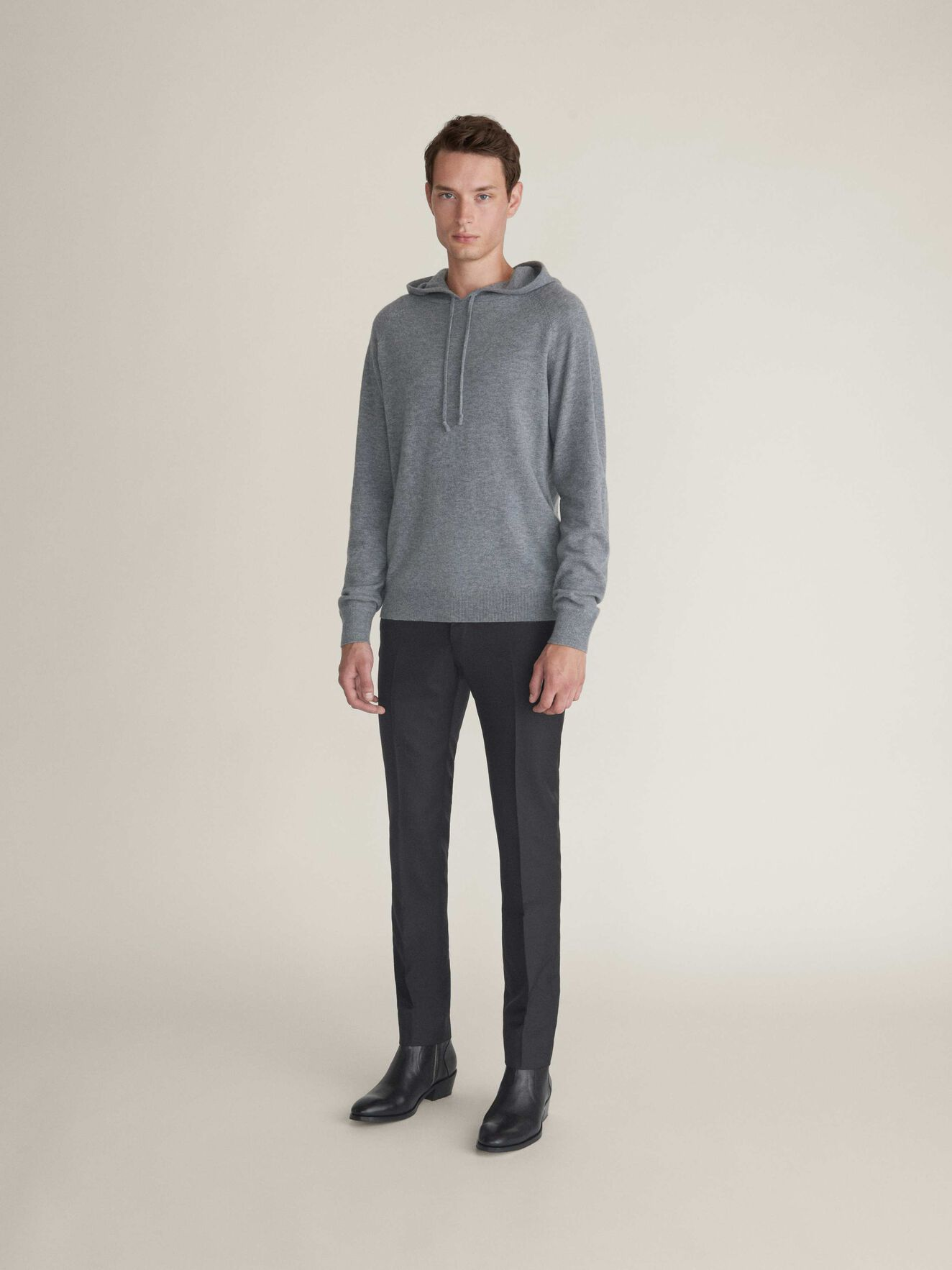Nakkne Pullover in Light grey melange from Tiger of Sweden