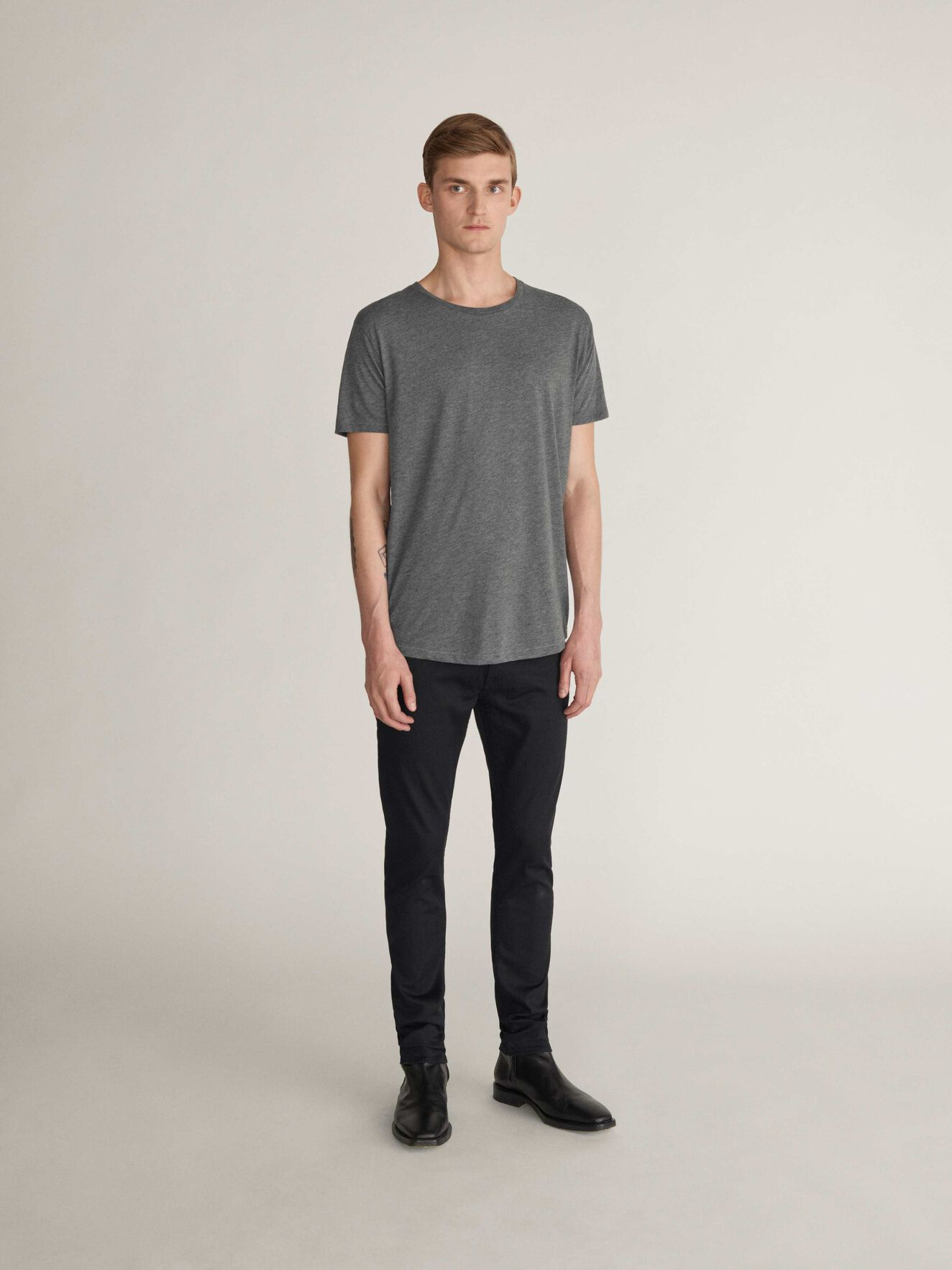 Corey Kurzarm-T-Shirt in Grey melange from Tiger of Sweden