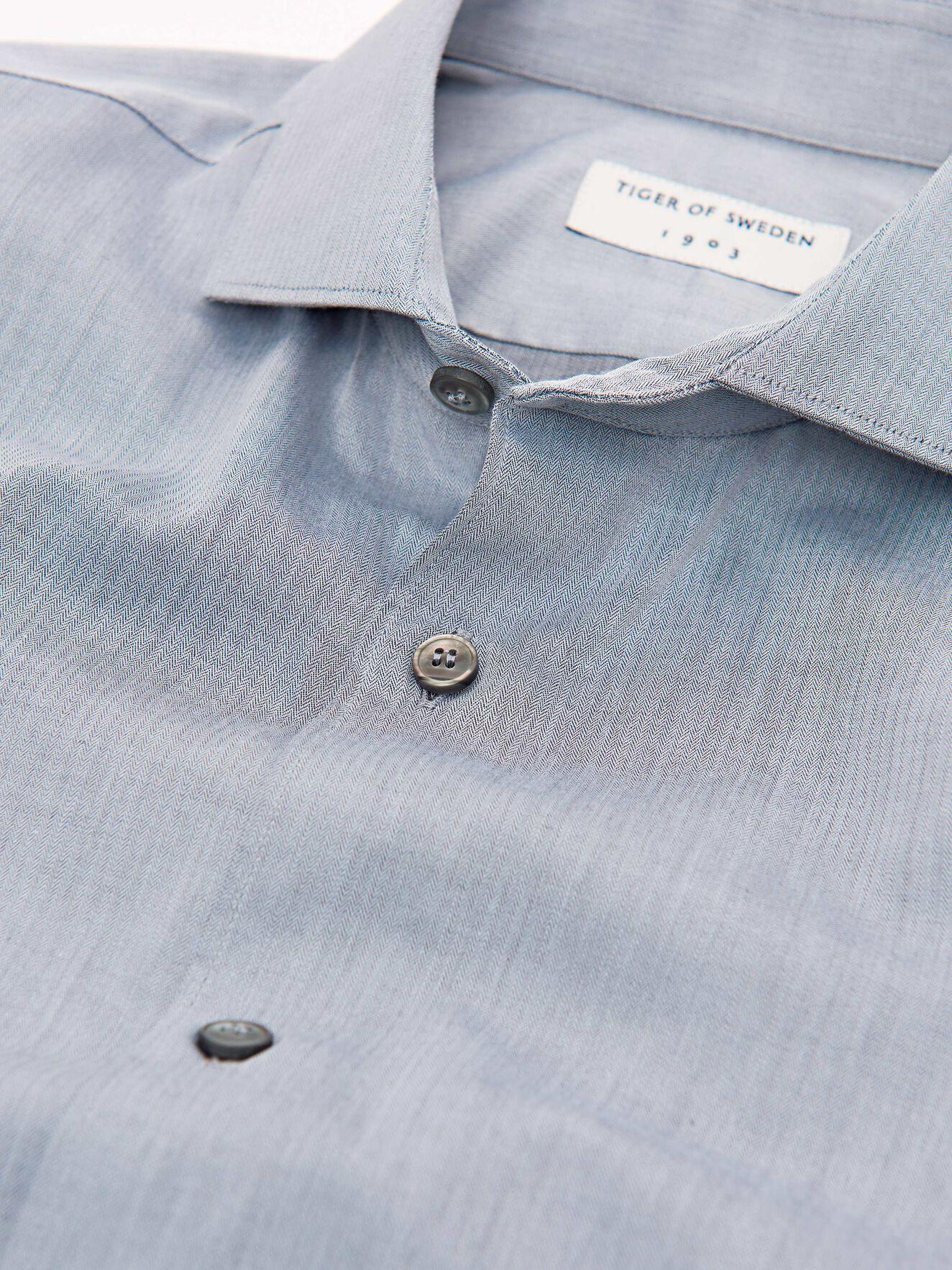 Farrell 5 Shirt in Med Grey Mel from Tiger of Sweden