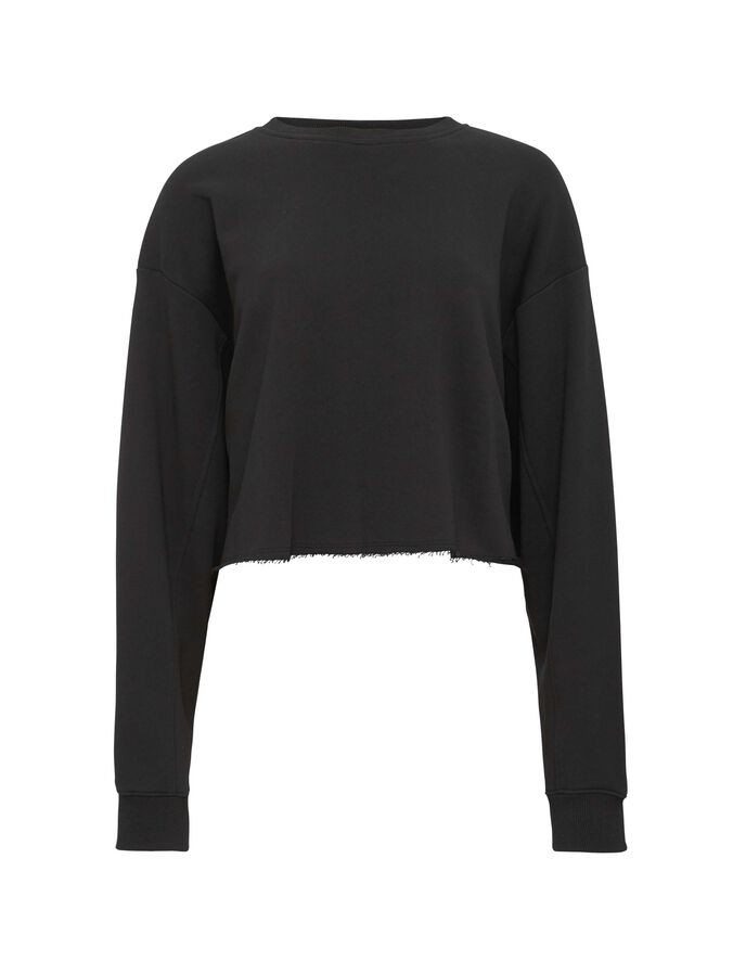 BIG CROP SWEATSHIRT in Black from Tiger of Sweden