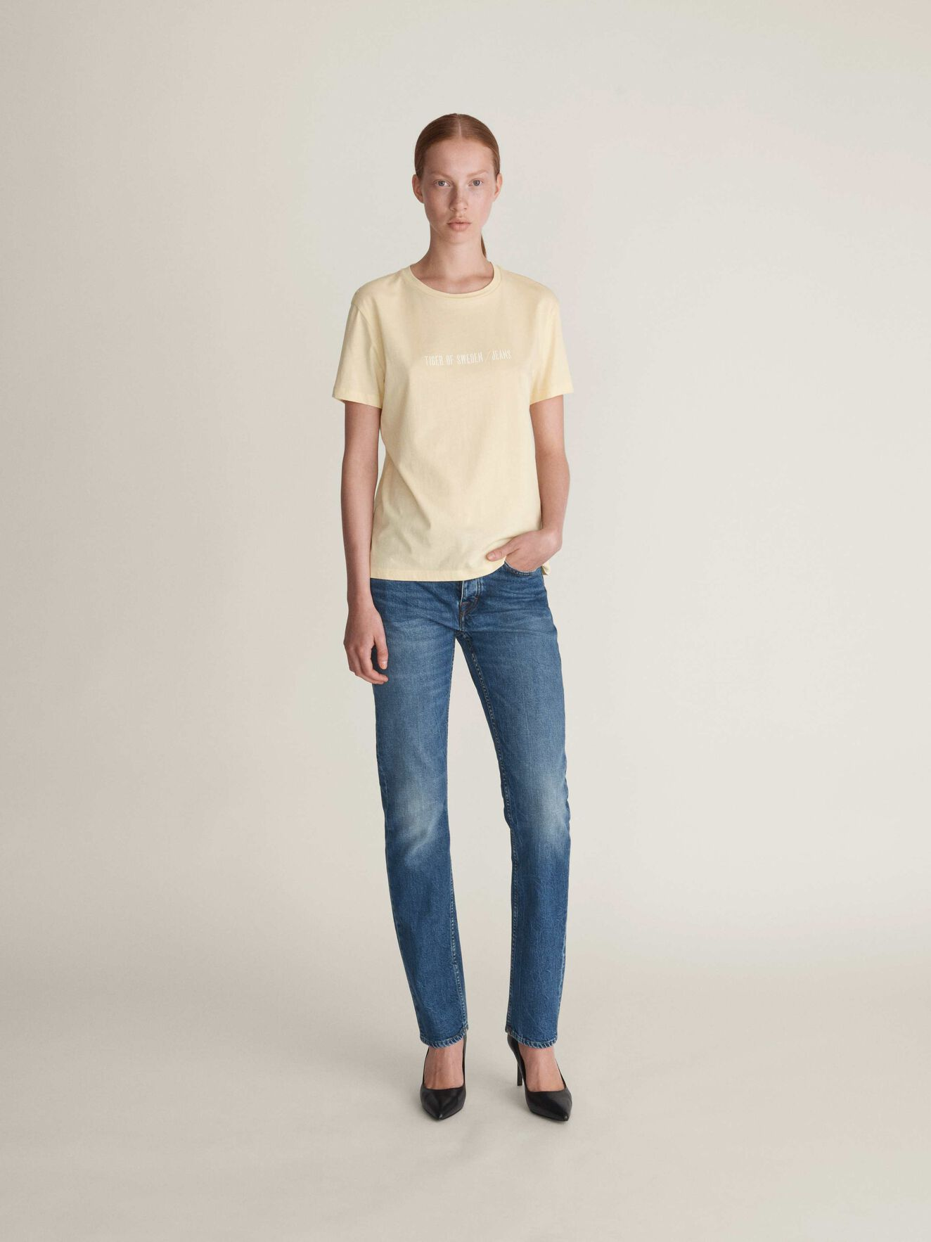 Dawn Print-T-Shirt in Curd from Tiger of Sweden