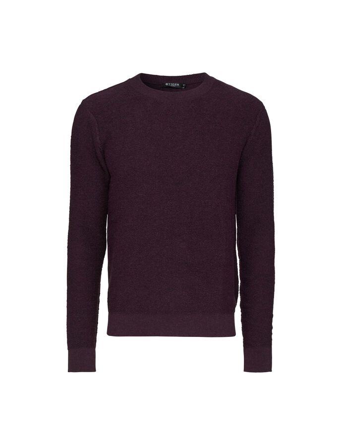 KAIKO PULLOVER in Dark Heather from Tiger of Sweden