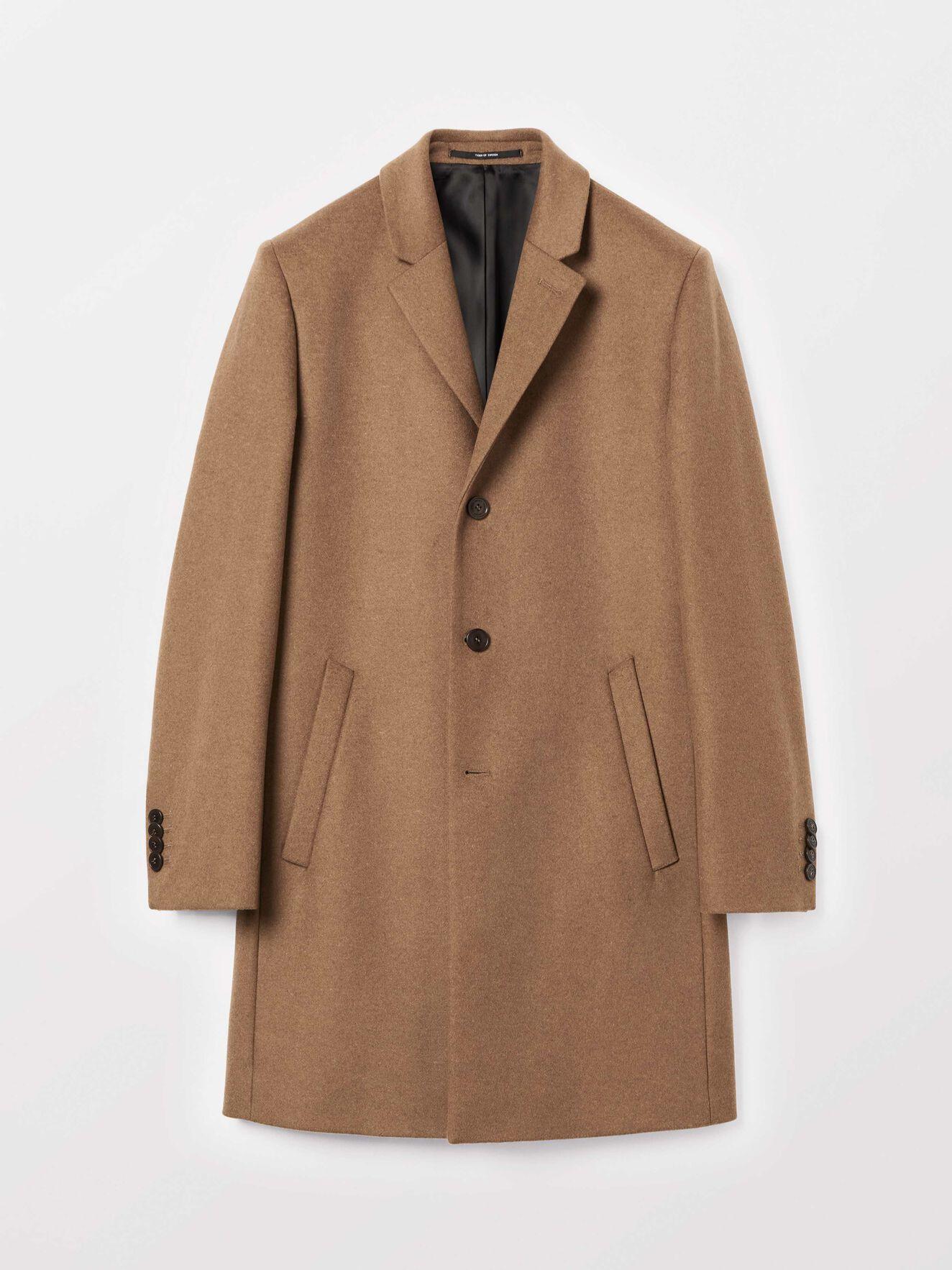 Dempsey coat in Dark Honey from Tiger of Sweden