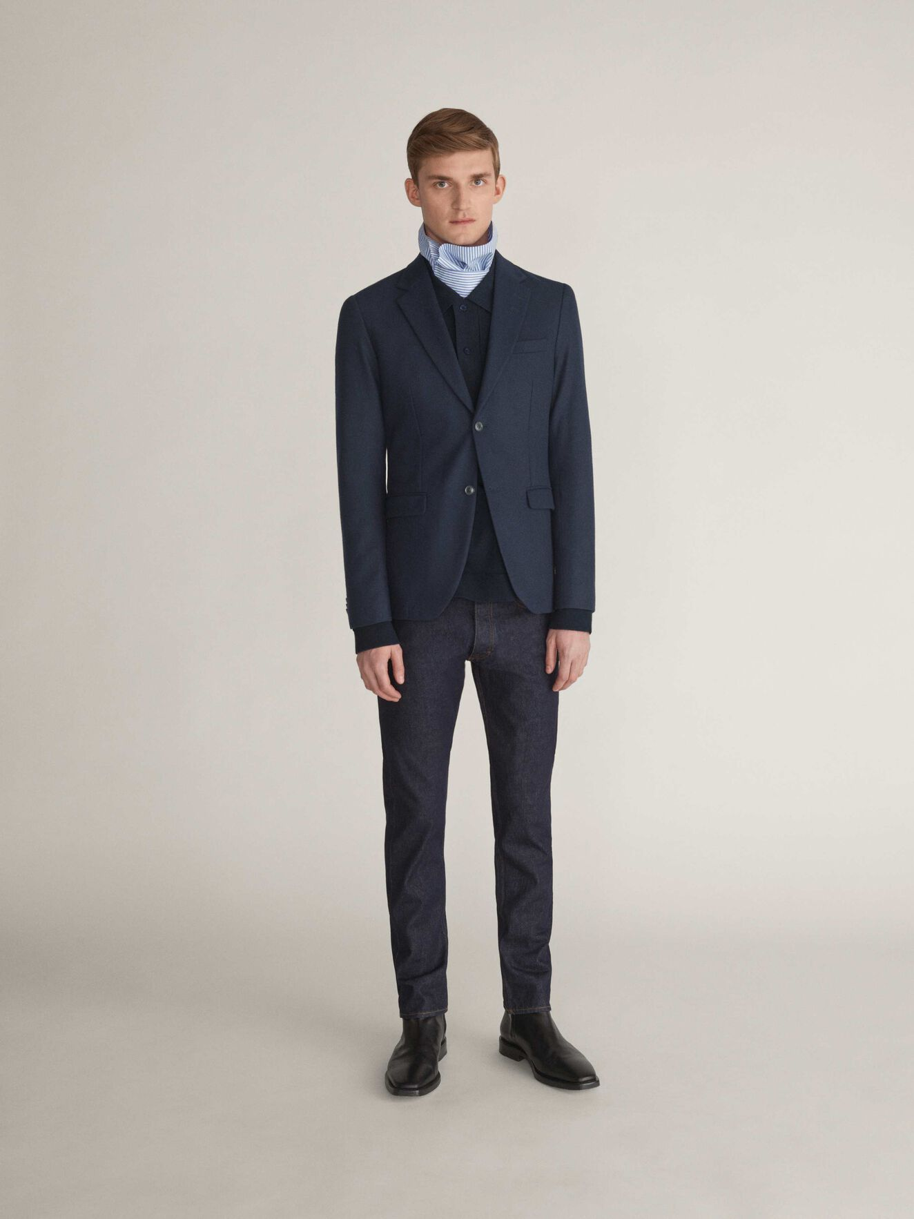 Jamonte Hl Blazer in Dusty Navy from Tiger of Sweden