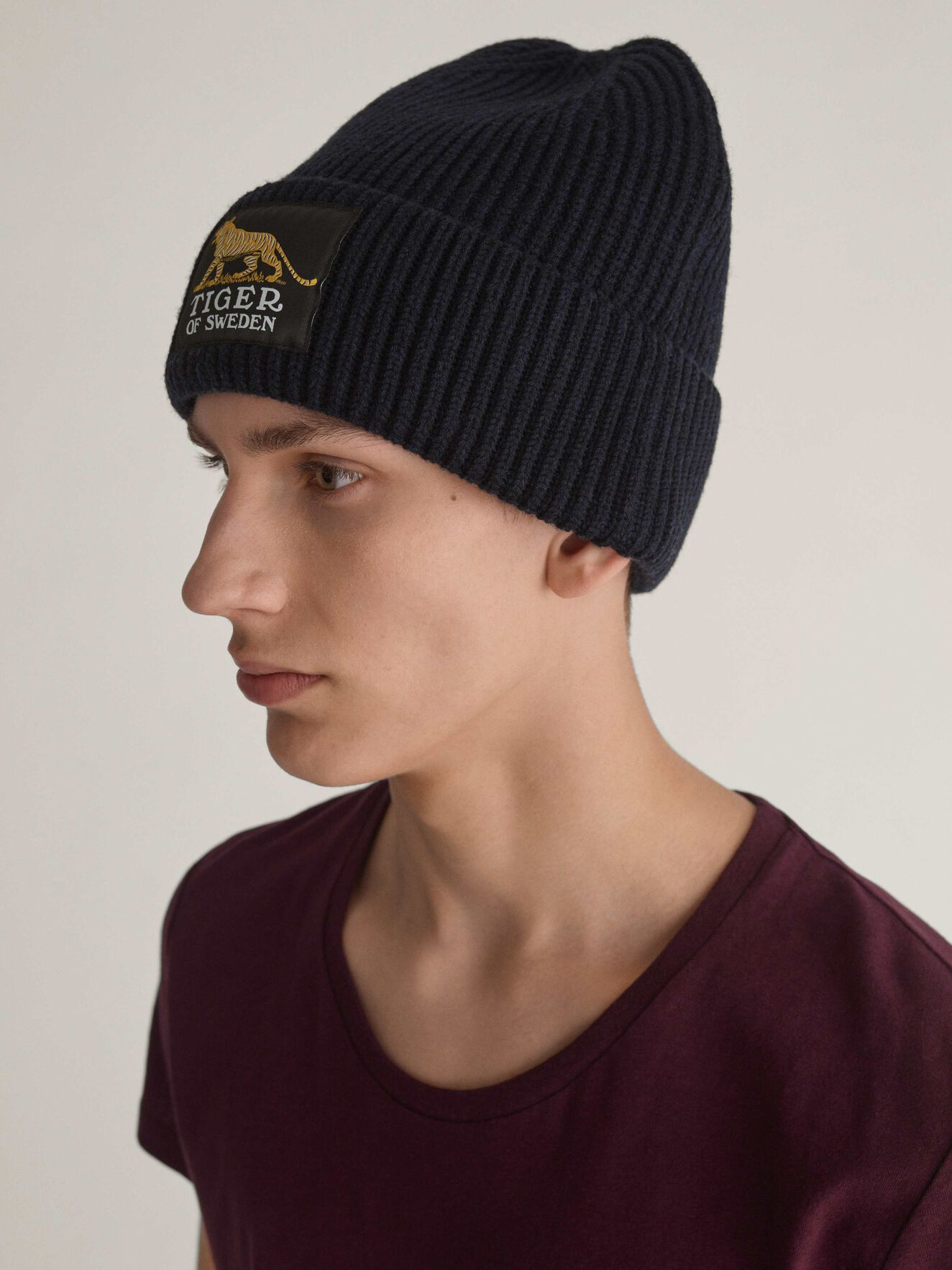 Huntt Beanie in Light Ink from Tiger of Sweden