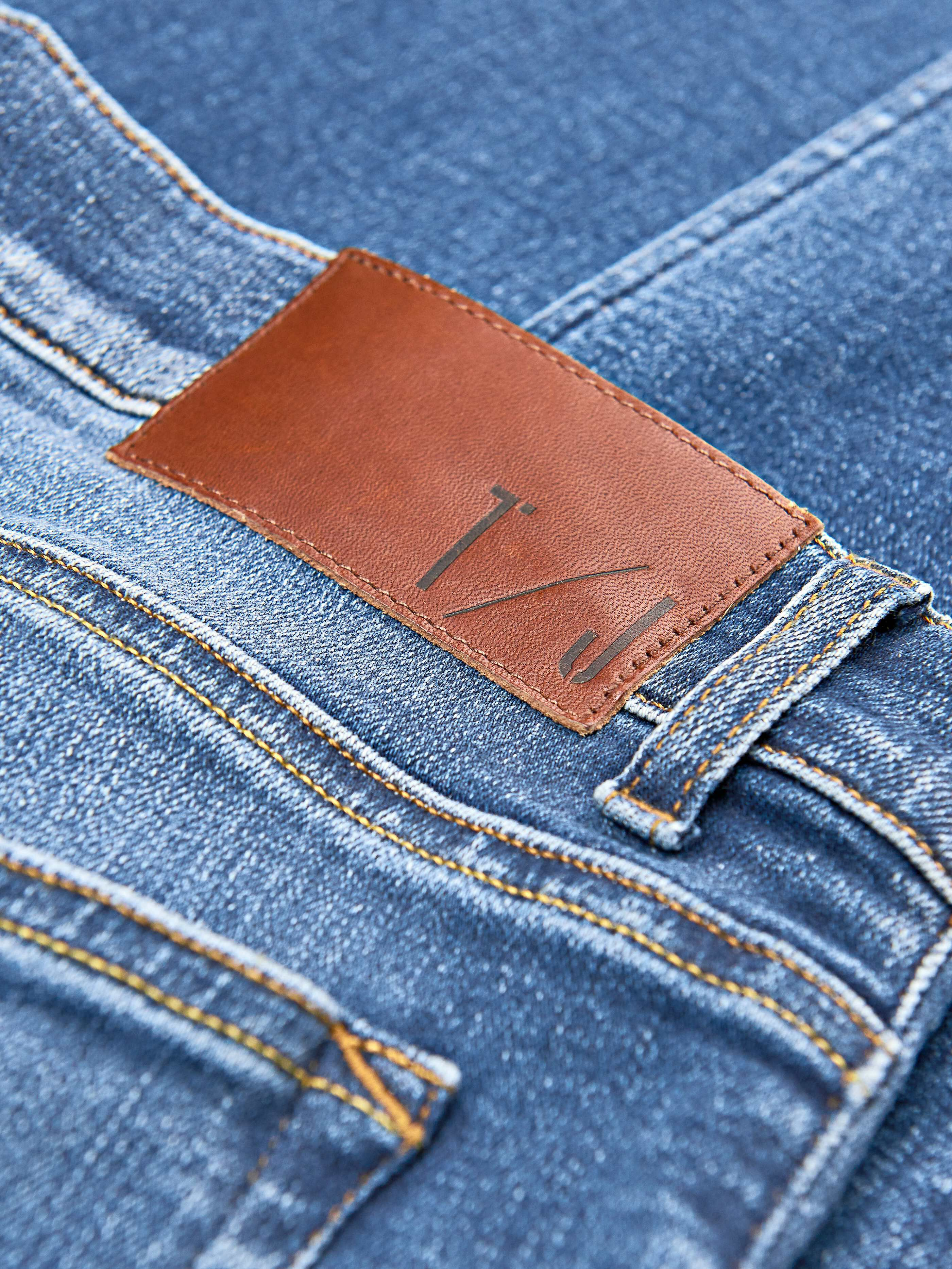 Tiger of Sweden Mens Regular Fit Slim Tapered Mid Rise Denim Jeans Size XL Grey