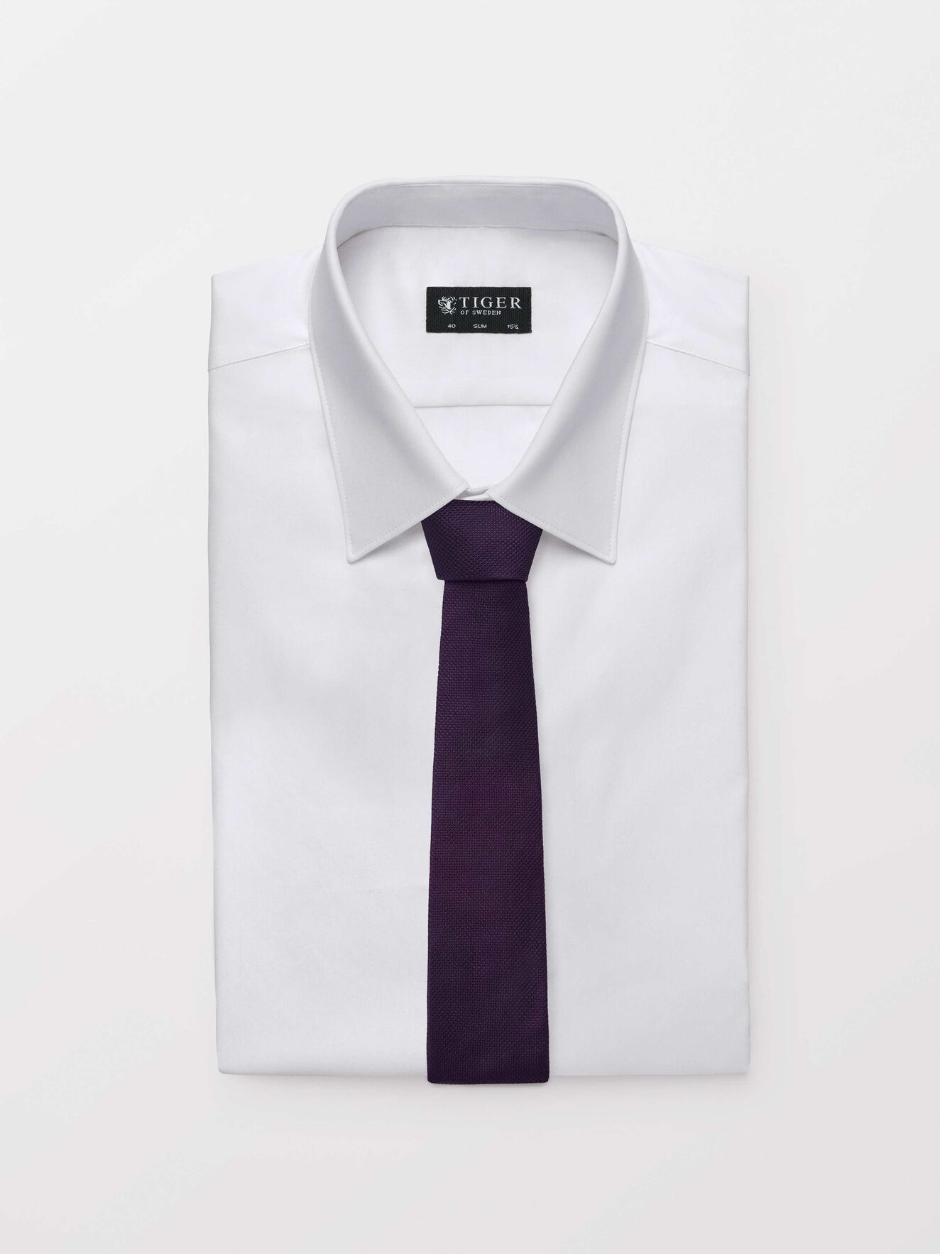 Triss Tie in Deep Purple from Tiger of Sweden