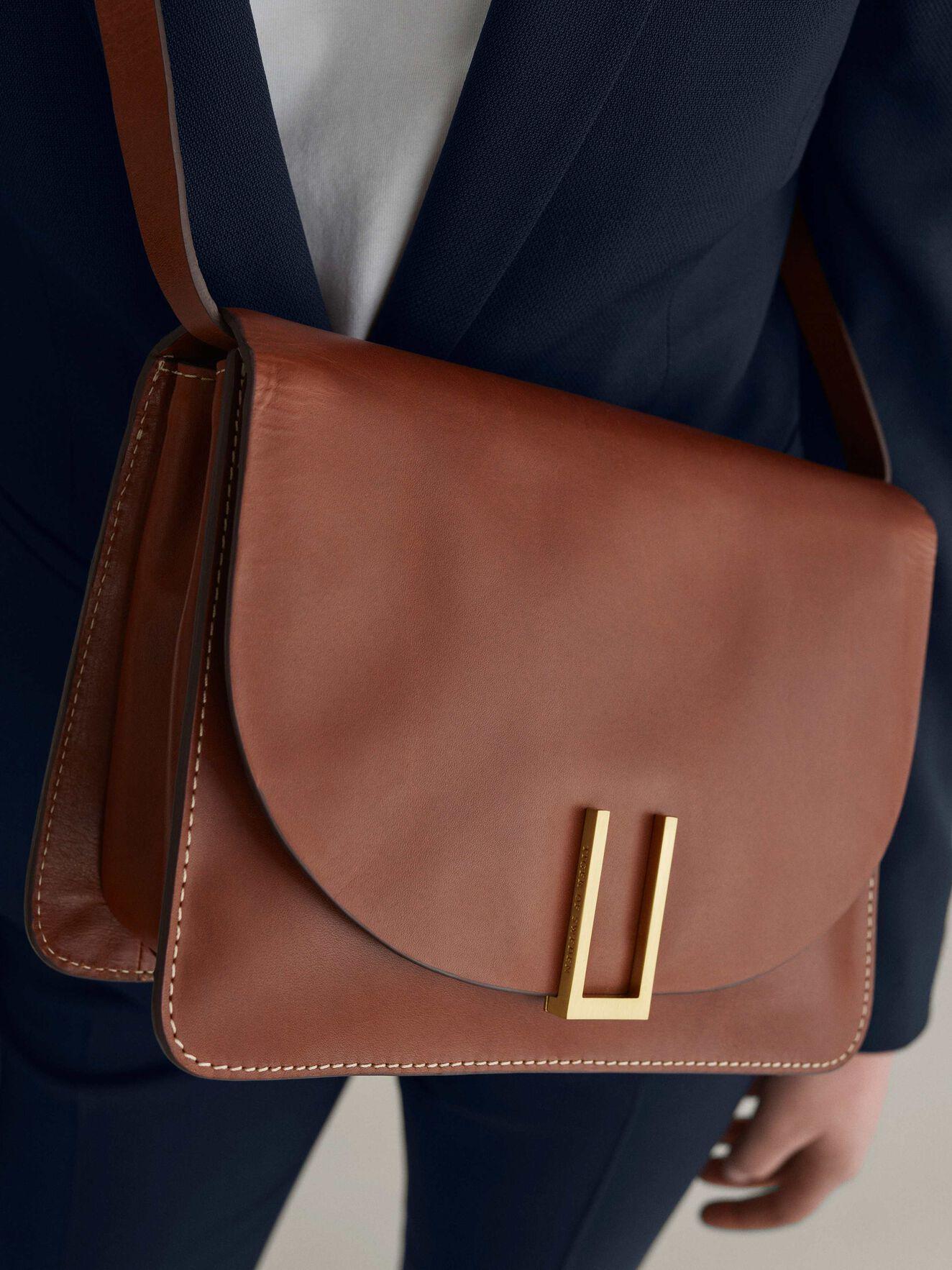 Marcel Shoulder Bag in Light Brown from Tiger of Sweden