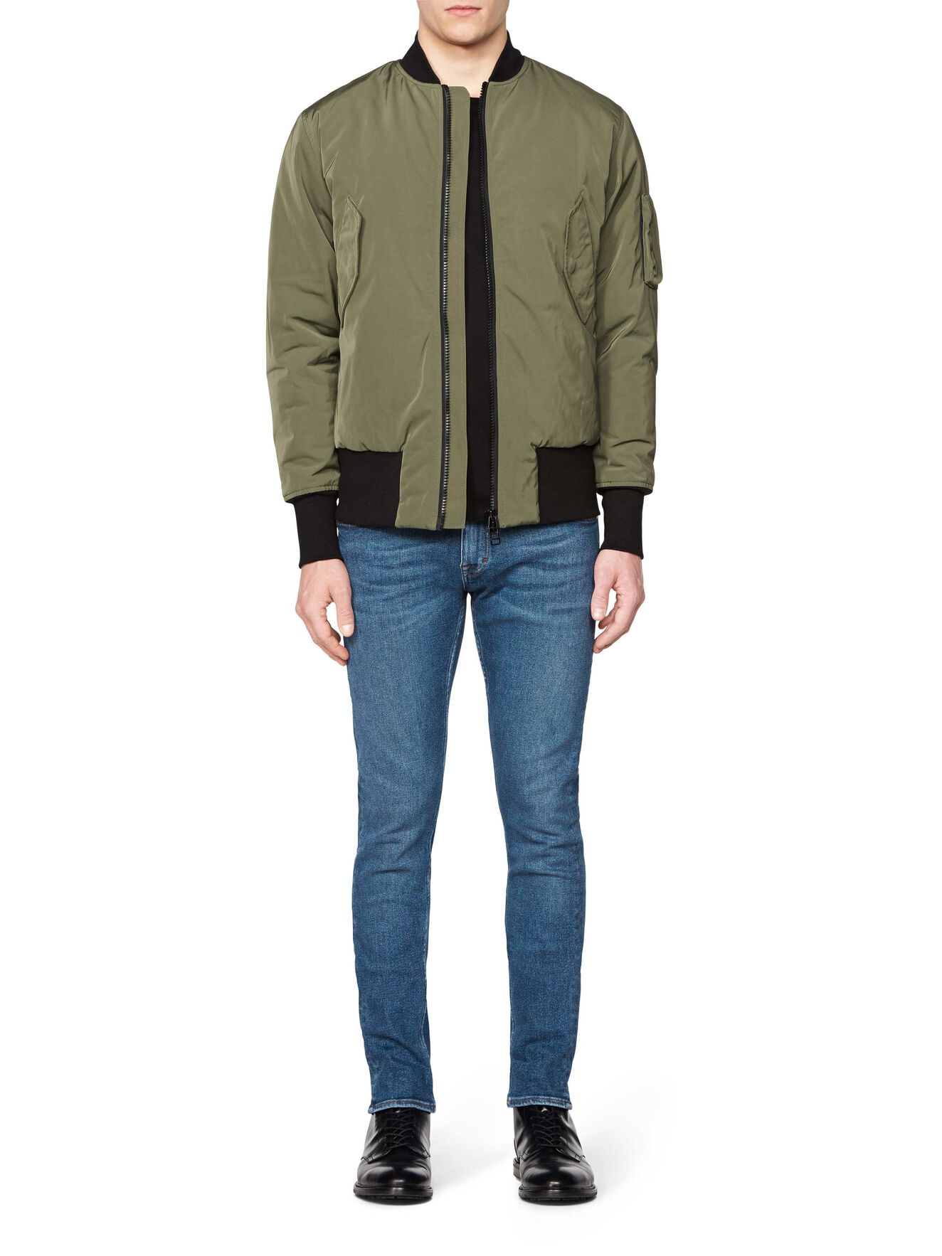 SOB JACKET in Dark Khaki Green from Tiger of Sweden
