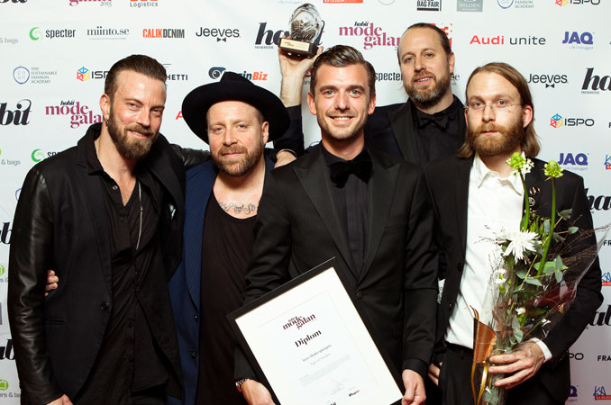 Tiger of Sweden double winners at the Habit Fashion Award 2015